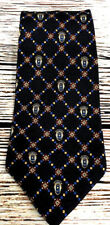 Tommy Hilfiger Mens Geometric 100% Silk Printed in Italy Made in USA Tie