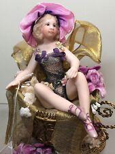 """5.5"""" Maree Massey Limited Porcelain Artist Doll """"Celine"""" Almost Real In TeacupAS"""