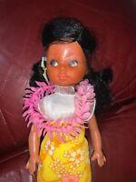 "Vtg 1960s Hawaiian HULA DANCER Girl 10 1/2"" Doll"