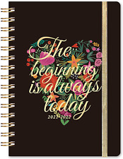 2021 2022 Hardcover Weekly Monthly Planner Jul 2021 Diary Calendar Thick Paper