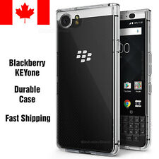 Case for BlackBerry KEYone, [FUSION] Crystal Clear PC Back TPU Bumper
