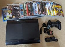 Sony Playstation 3 (12GB) Super Slim 2 Controllers & 14 Games Bundle PS3 MASSIVE