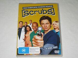 Scrubs - Complete Season 4 - 4 Disc Set - Region 4 - VGC - DVD
