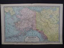 Alaska 1901 State Map, George F. Cram