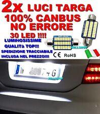 LUCI TARGA AUDI A4 B8 CANBUS SILURO NO ERROR LAMPADE 30 LED 6000K C5W BIANCA