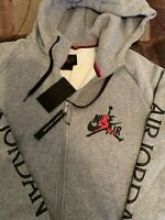 Nike Air Jordan Fleece Full-Zipper Hoodie Sweater Men's Sz XL