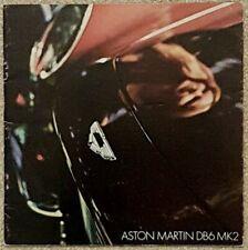 Aston Martin DB6 MK2 Sales Brochure - September 1969  #