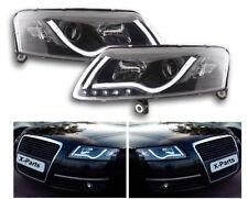 Xenon Headlight LED Light Bar Black Daytime Running for AUDI A6 4f C6 Daylight