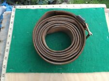 """British Army, Brown Leather Strap, 7' 6"""" Long X 1 1/2"""" Wide, 1953 Dated"""