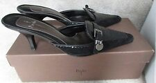 Linea Paolo Black Suede Ladies Heels Size 7M Dusty with Box $89
