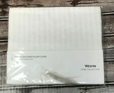 West Home Collection Queen/King Boudoir Pillow Cover White 100% Cotton New