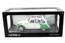 NOREV 1/18 1985 CITROEN 2CV DOLLY WHITE / GREEN DIECAST CAR 181552