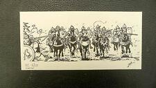 TORTON ex-libris Conquérants du Mexique numéroté signé charge conquistadors