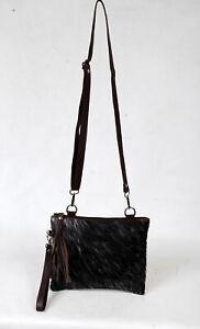 Real Cowhide Cross body Purse Handbag & Hand Clutch  Cow Hide Leather  SA-6632