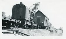 6C798 RP 1930s/70s PARKERS TRAIN STATION MOVE BANGOR & AROOSTOOK CRANE WHERE ?