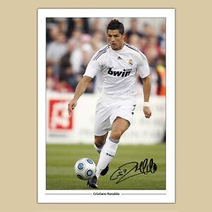 CRISTIANO RONALDO Real Madrid (28) Signed Reproduction Autograph Photo Print A4