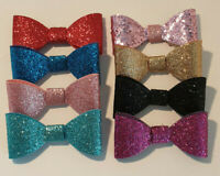 """Baby 2"""" Glitter Hair Bows/Clips for Girls/Babies -  Small Multiple Colour"""