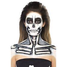 Skeleton Black & White Liquid Latex Kit Sponges Make Up Face Paint Fancy Dress