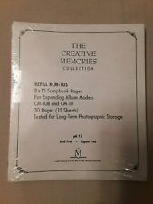 Creative Memories 8x10 white scrapbook pages,15 sheets, NIP