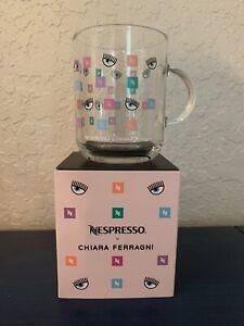Nespresso Chiara Ferragni Vertuo Clear Glass Coffee Mug, 13.2 oz
