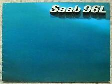 SAAB 96 L Car Sales Brochure c1977 SWEDISH TEXT