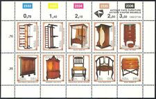 South Africa 1992 Furniture/Antiques/Design/Craft/Chairs/Desk 10v sht (n17107)