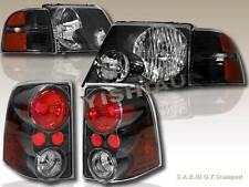 02 03 04 05 Ford Explorer Headlights JDM Black + Corner LIGHTS & TAIL LIGHTS