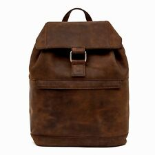 Medium Handmade Brown Leather Backpack Rucksack Day Bag