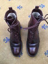 Hermes Homme Doublé de Fourrure en Cuir Marron Militaire Bottes UK 11 US 12 EU 45 à Lacets