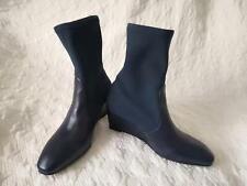 Stuart Weitzman Nice Blue Nappa/Strgab Boot sz 6M Heel Hight 2.5 inch