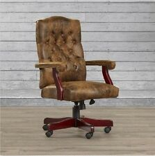 Office Desk Chair Rustic Vintage Suede Executive Furniture High Back with Arms