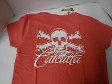 New Calcutta Original Logo LADIES Short Sleeve Shirt CORAL/WHITE LOGO  MEDIUM