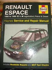 Haynes Workshop Manual Renault Espace 85-96 (Petrol & Diesel) Phase 1, 2 & 3