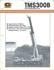 Equipment Brochure - Grove - TMS300B - Truck Mounted Hyd Crane - c1988 (E4076)
