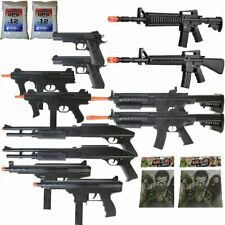 Mega Airsoft Arsenal - 12 Gun Airsoft Assault Rifle Package + Zombie Targets BBs