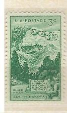 US 1011 Mount Rushmore Black Hills South Dakota 3c single MNH 1952