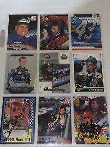 9 NASCAR SIGNED CHAMP/HOF LOT cards BLANEY Dave Marcis Kasey Kahne BODINE +MORE
