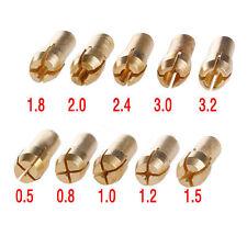 10x 0.5-3.2mm Brass Drill Chucks Collet Bits Shank f/ Dremel Rotary Tool Set