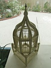 >>> DOUBLE DECKER BIRD CAGE >>> DOMED WOOD & WIRE >>> SPRINGTIME SPECIAL <<<