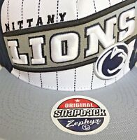 Penn State Nittany Lions Zephyr Brand Snapback Hat Flat Cap Officially Licensed