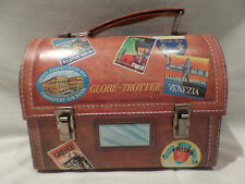 "VINTAGE """"GLOBE TROTTER"" METAL LUNCH BOX"