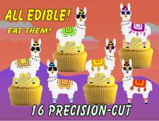 16 EDIBLE LLAMA IN SUNGLASSES Edible Cake Toppers, 2.2in high ~ PRECISION-CUT ~