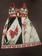 Fire Los Angeles Cute Floral Butterfly Summer Beach Dress Ladies Juniors Size 11