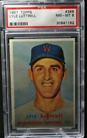 1957 Topps - Lyle Luttrell - #386 - PSA 8 - NM-MT