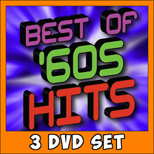 Best of the 60's Music Videos * 3 DVD Set * 73 Classics ! Pop Rock Disco Hits