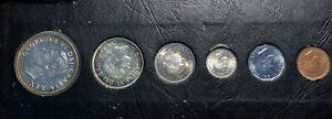 1952 Canadian Proof Set 6 Coin Set
