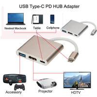 Type C To 4K HDMI USB 3.0 Charging HUB Adapter USB-C 3.1 Converter For Macbook