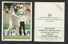 AUSTRALIA 1983 SCANLENS CRICKET STICKERS SERIES 2 - GREG CHAPPELL  (AUST) # 24
