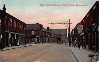 POSTCARD  YORKSHIRE DONCASTER - CARR HOUSE ROAD - HYDE PARK Circa 1914