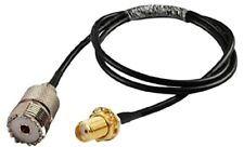 UHF PL259 SO239 Female to SMA Female Extension Pigtail RG174 1m